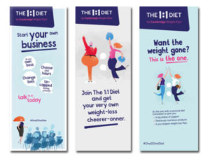 the one2one diet - roller banners