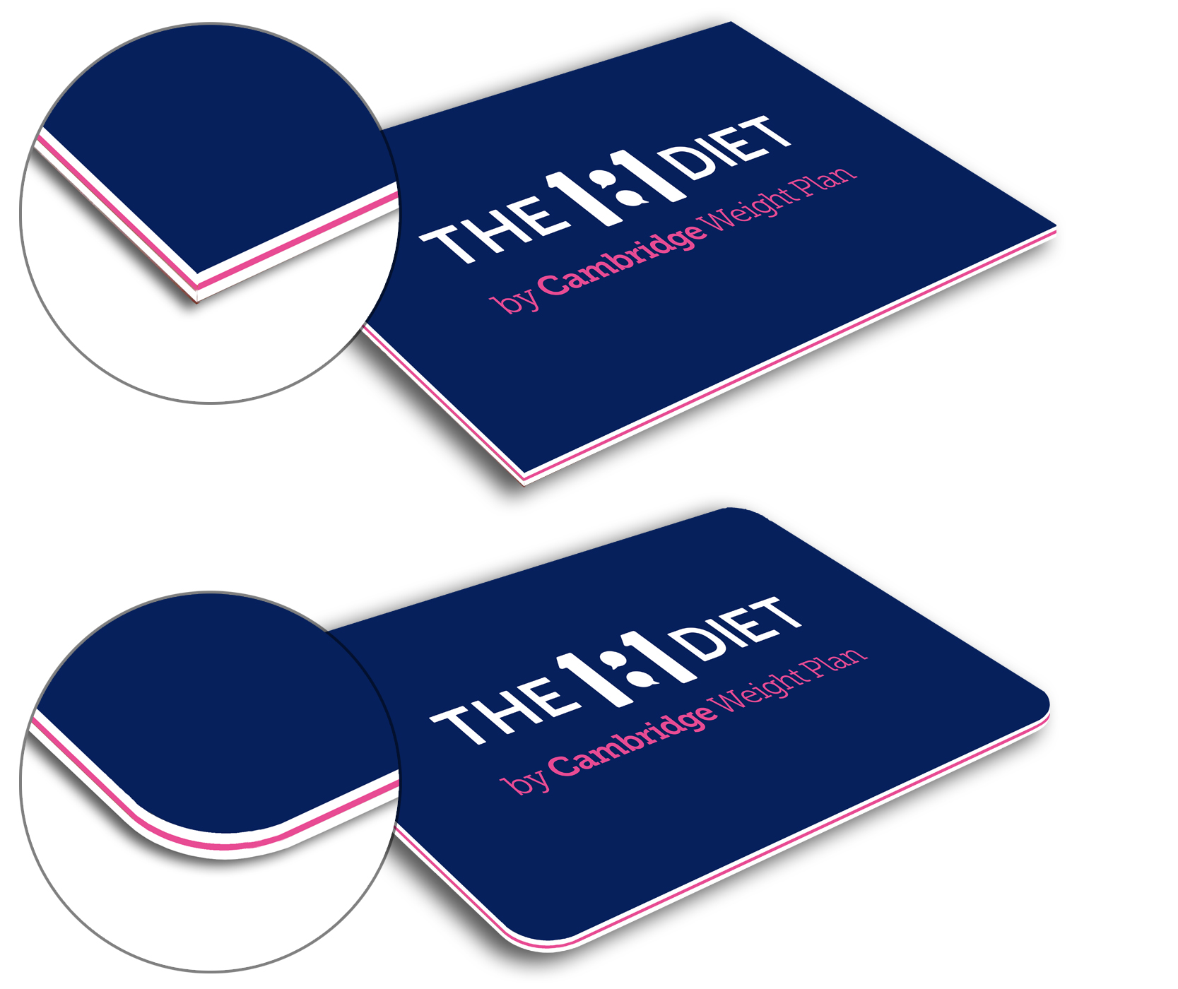 The 1:1 Diet Triplex business cards