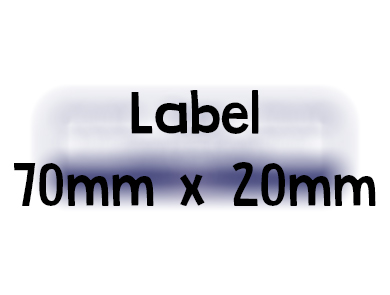 Label 70mm x 20mm