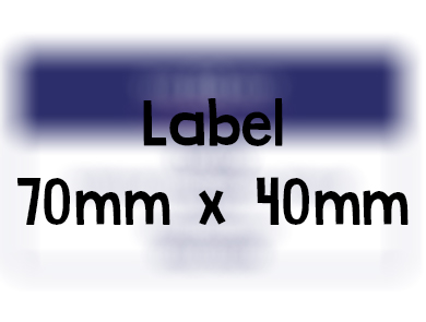 Label 70mm x 40mm